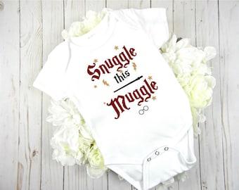 snuggle this muggle//harrypotter inspired//gender neutral bodysuit//babygirl bodysuit//babyboy bodysuit//