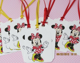 Minnie Mouse Favor Tags