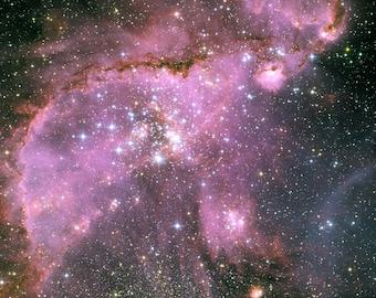 Small Magellanic Cloud (SMC) NGC 346 Giclee photo print fine art Hubble Space Telescope Poster Astronomy