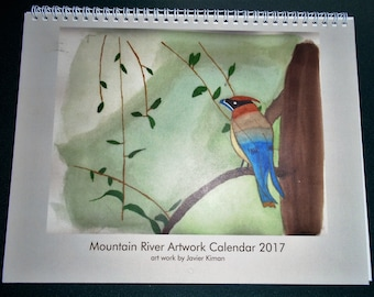 Watercolor Calendar 2017