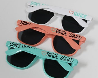 Personalized Sunglasses, Custom Wedding Favor, Bachelorette Gifts, Bachelorette Party Favors, Destination Wedding, Party Favors