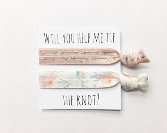 Bridesmaid hair tie favors//hair tie card, hair tie favor, party favor, bachelorette party, bridemaid hair ties, wedding, bride