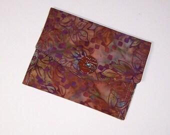 Baumwolle Batik Brieftasche, Kleinartikel Wallet, Wallet, Reisepass
