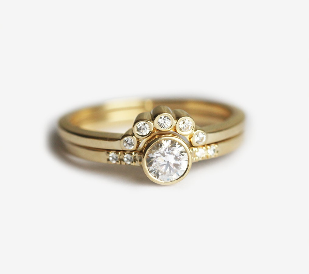 fields gold products engagement rings ring round rose full diamond stellar peekaboo i set bezel