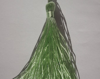 tassel cotton Green 8-9 cm high (64)