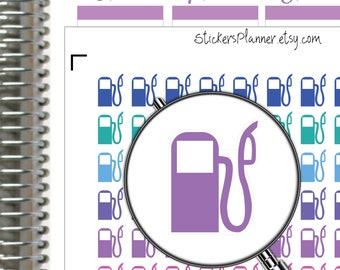 Ravitaillement de remplissage station-service Planner Stickers planificateur pour Erin Condren planificateur heureux planificateur icône autocollants gaz Stickers carburant autocollants i73-2)