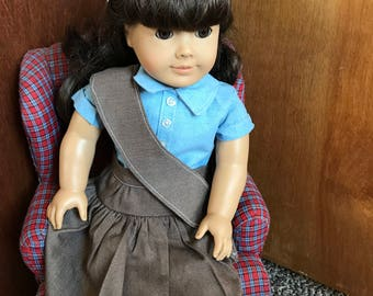 American Girl Doll Clothing, Licensed Vintage Girl Scout Brownie Uniform
