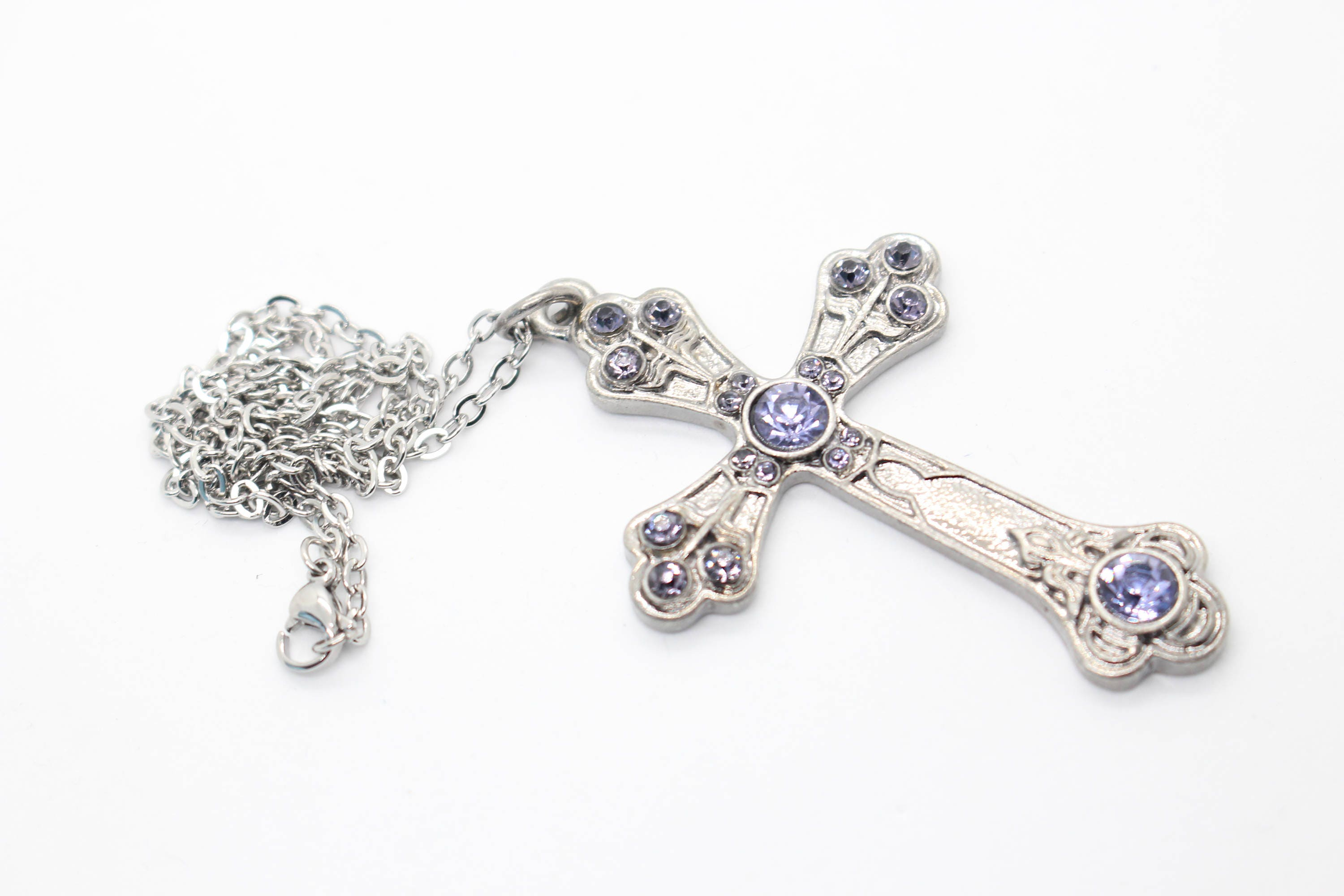 Silver cross pendant large cross necklace large cross pendant silver cross pendant large cross necklace large cross pendant silver cross necklace purple cross purple gem necklace cross jewelry mozeypictures Image collections