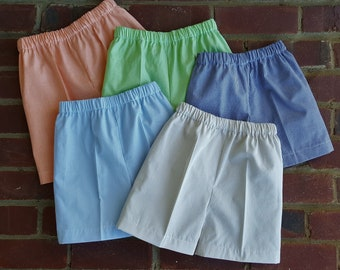 """Shorts 1/16"""" Gingham Shorts 37 colors to choose from Embroidery Blank Lined Elasticized Waist MTO"""
