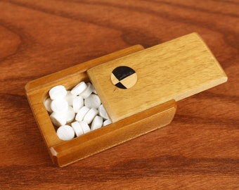 DISCONTINUED - REDUCED PRICE Wonky Knot, Wooden trinket box, Solid Cherry Top and Bottom, Masterpiece Laser