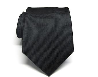 Mens Ties Black Tonal Stripes Neckties
