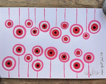 Circles : Pink and Red