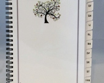 Large Print PASSWORD Book Internet Address Book with A-Z Tabs (Tree) Personalized Gift