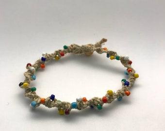 Multi Color Hemp Bracelet