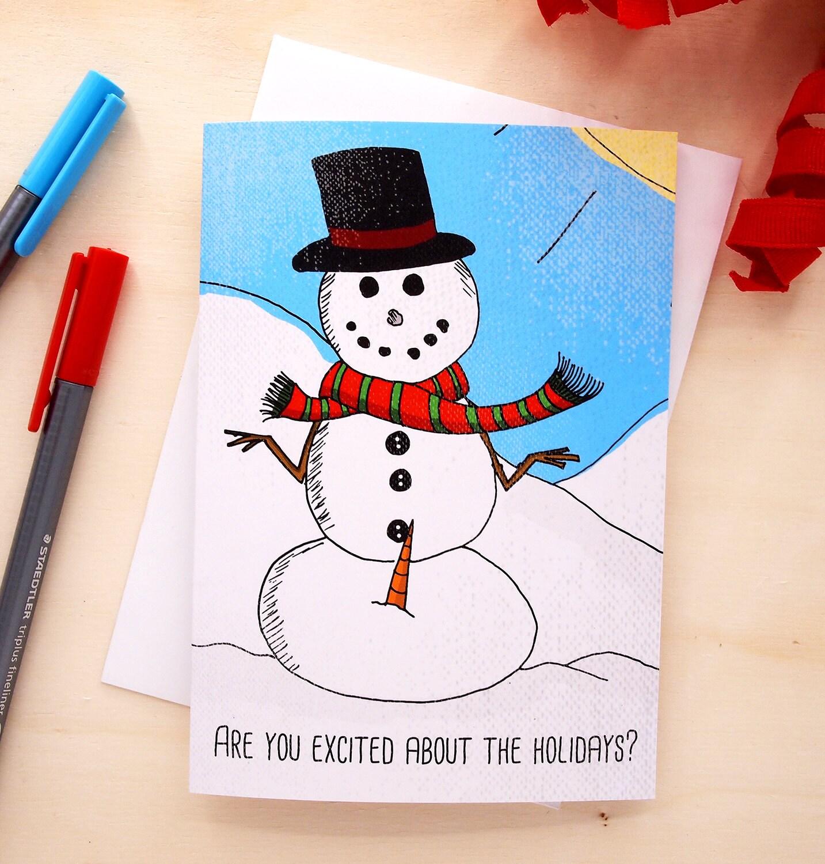 Funny christmas card xmas card funny holiday card snowman zoom kristyandbryce Gallery