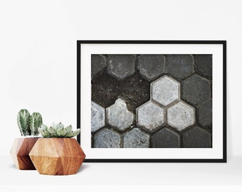 interlock // rich abstract texture photo print // standard or square // hang any direction