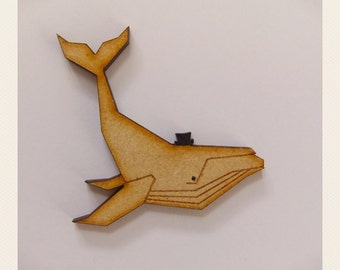 Whale with a hat Brooch