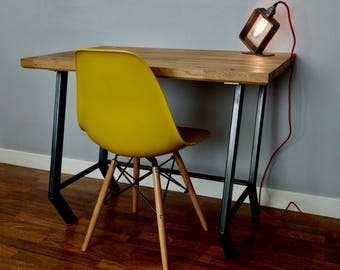 Fawn: Oak and Steel writing desk