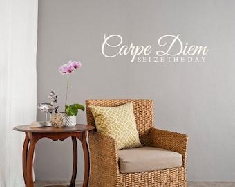 Carpe Diem Seize The Day Wall Quote
