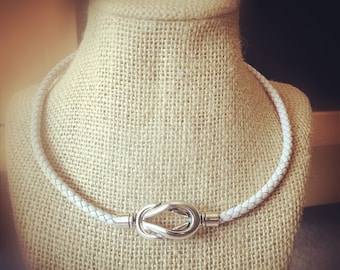 Marine Knot Leather Necklace