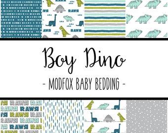 Boy Dino Baby Bedding - Dinosaur Baby Bedding - Dinosaur Crib Sheet - Teal Crib Sheet - Lime Crib Sheet - Crib Bedding - Dino Crib Blanket
