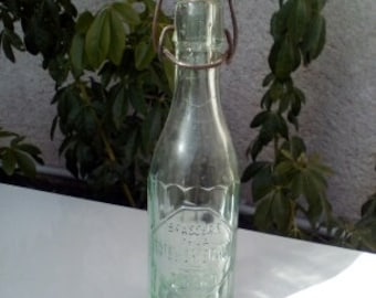 glass bottle of soda vintage limonage french 40/50 years