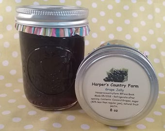 Natural concord grape jelly, handmade jelly, Christmas gift