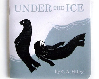 Under the Ice - Selkie artist's book, illustration, zine, comic, Scottish folklore, Scotland, sea, mythology, storytelling, iceberg, seal