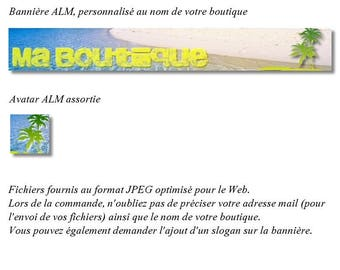July 2014 challenge: Banner and avatar ' Ah! Holiday ' for shop