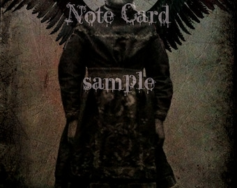 NOTE CARD Mixed Medial Digital Art Little Girl Dark Angel Gothic Ghost Suitable for FRAMING Art Print Rare Photo Dark Art Witch Gypsy
