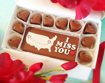 I Miss You Chocolates - Long Distance Relationship Message