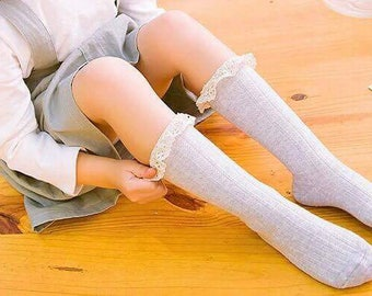 Tilly Lace Knee High Socks