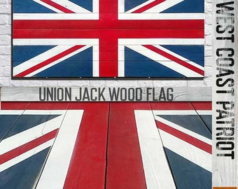 Half American Half Canadian Flag Vintage Style Wood Flag