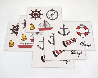 Sailor Stickers - Naval and Seafarer - 6 Pack Sticker Set