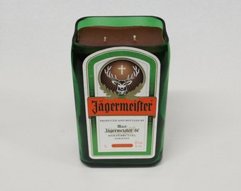 Jagermeister Candle /Perfect Gift For Guy Friend, Man Cave Gift, Liquor Bottle Candle,  Man Candle, Jager Bombs / Father's Day Gift