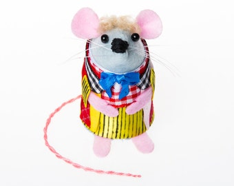 Colin Baker Doctor Who Mouse Artisan ornament gift for husband wife boyfriend girlfriend brother sister men women dr who fan collector rat