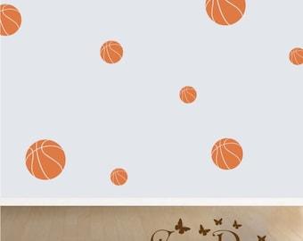 Basketball 18 Set, Vinyl decals,nursery, kids room, teens room, removable decals stickers
