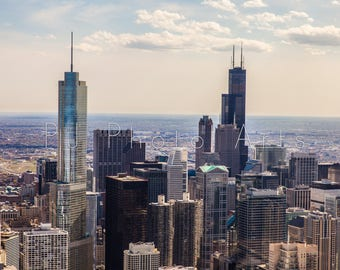 Chicago city skyscrapers, travel, photography, architecture, Willis tower, Sears tower, digital, download