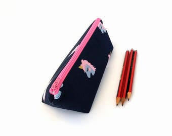 Girls pencil case, Unicorn pencil bag, Cute pencil case, Girl Pencil pouch, Zipper pencil case, School supplies, Unicorn gifts for girls