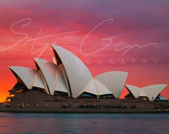 Sydney Opera House at sunrise - photograph - print - travel photography