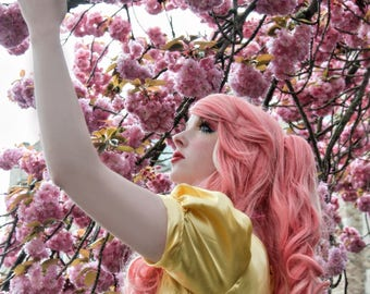 Pink Cherry Blossom Portrait