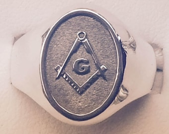 Masonic classic Sterling Silver 925 Ring Available size 6-14