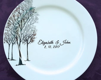 Unique Wedding Guest Book Alternative Personalized Platter Sign in Signature Plate Custom Guestbook Ideas for Anniversary Shower Retirement