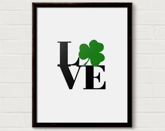 Love, Luck, St Patricks Day, Good Luck, Four Leaf Clover, Gift, protection, shamrock, handmade, love luck, green, love sign, Irish