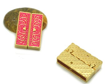 magnetic clasp pink to cuff 32 x 22 x 8 mm gold