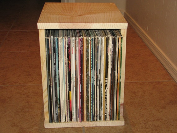 solid wood stackable vinyl record storage box. Black Bedroom Furniture Sets. Home Design Ideas