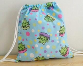 Baby backpack,children backpack,kid backpack,children bag,baby bag,kawaii bag,school bag,lunch bag,clothes baby bag,frog bag,string backpack
