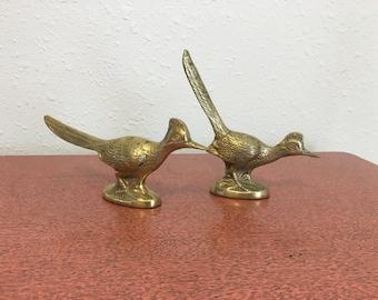 vintage brass birds, brass pheasants