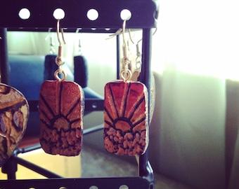 Sunrise, gourd earrings