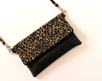 Leopard bag, leopard clutch, clutch bag, animal print purse, gift for her - Leopard handbag